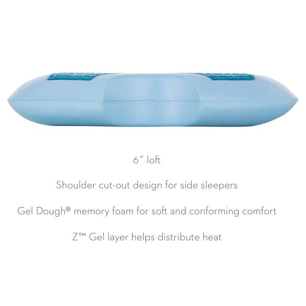 Shoulder Gel Dough 174 Z Gel Pillow Oklahoma Mattress Company